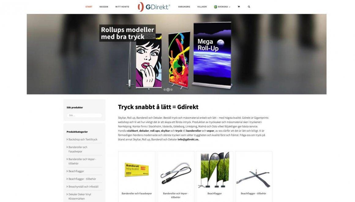 GigantPrint - Marknadsportal & Online