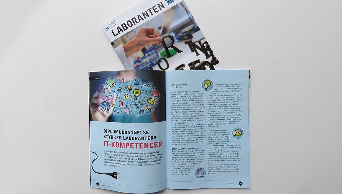 GigantPrint - Redesign af fagbladet LABORANTEN